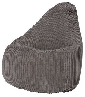 Modern Highback Bean Bag Upholstered, Soft Fabric, Great for
