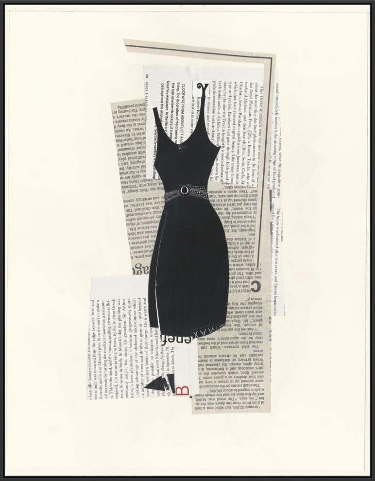 Little Black Dress Ii Framed Canvas Art 31 75 X41 75 Wall Art 31 75 X41 75 Contemporary Prints And Posters By Ptm Images