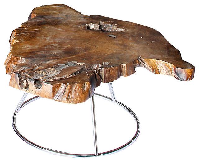 Fusto Coffee Table Solid Teak Root Low Rustic Coffee