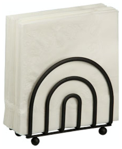 Home Basics Black Napkin Holder.