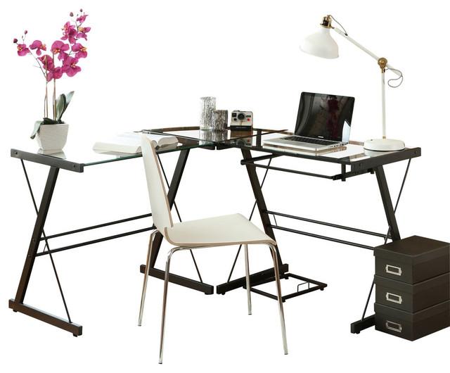 Black Corner Computer Desk.