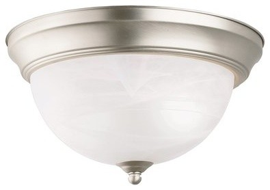 Kichler Lighting 8108ni Signature 2-Light Flush Mounts In Brushed Nickel.