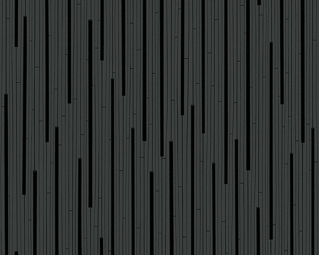 Non-Woven Wallpaper For Accent Wall - 302264 Black And White Wallpaper, Sample.