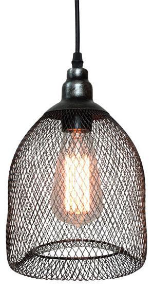 Style Wire Mesh Black Pendant Light