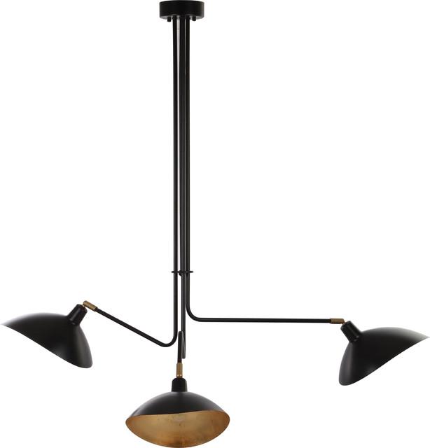 Lewis Metal Pendant Lamp, Black.