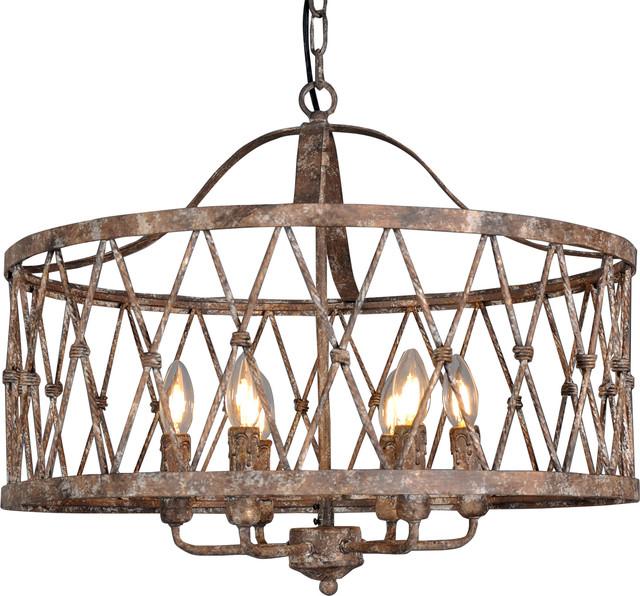 Circular Lantern in Antique Iron