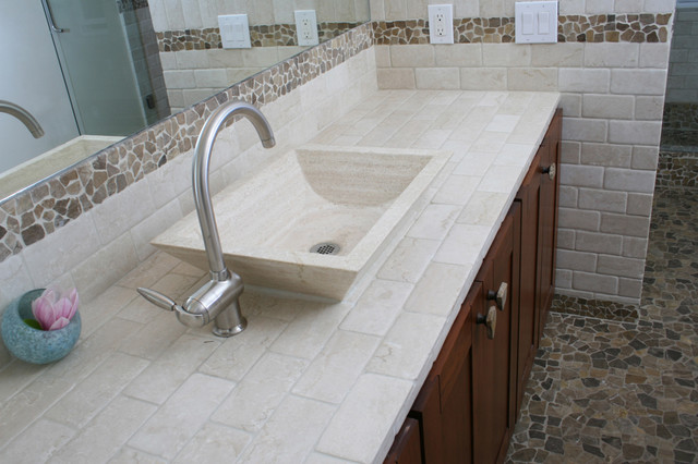 Pin by pat collier on bathroom and new shower ideas for Houzz com bathroom tile