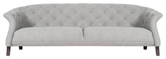 Crispin Chesterfield Sofa, Light Grey, 4-Seater
