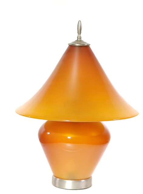 Salt Lamps Blowing Up : Shop Houzz CORREIA ART GLASS Lamp, Amber - Table Lamps