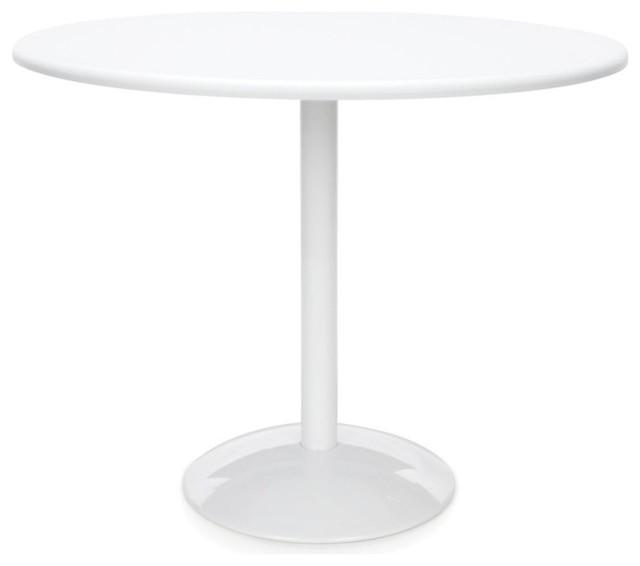 Orbit Table 36 Round, White Top.