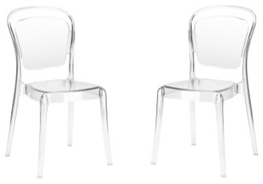 Poly And Bark Lucent Dining Side Chair, Set Of 2.