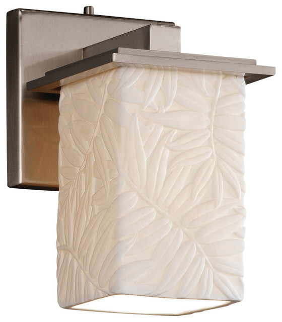 Justice Design Group LLC Limoges Montana Wall Sconce, Square With Flat Rim - Wall Sconces Houzz