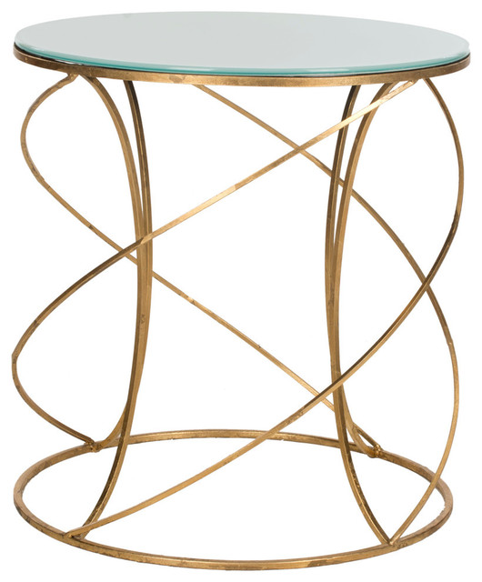 Safavieh Royle Accent Table, Gold and White