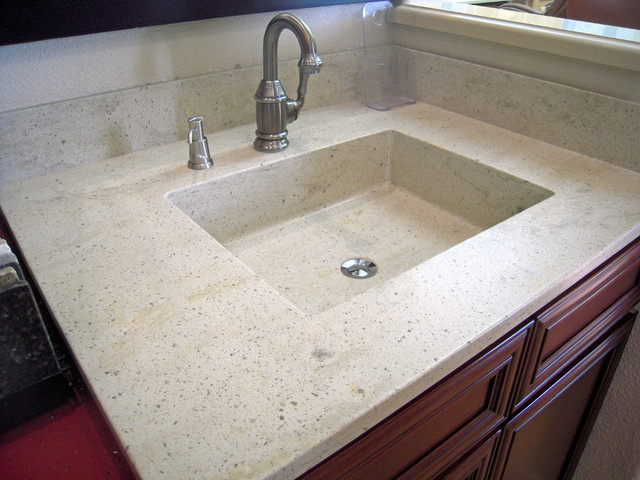 seamless corian custom vanity sink