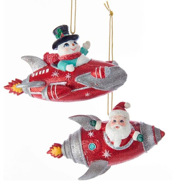 Set//3 Kurt S Adler Santa Snow Elves Candy Cane Cookie Christmas Tree Ornaments