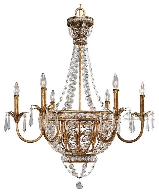 Modern Chandeliers Nyc: Antique Copper Crystal Chandelier