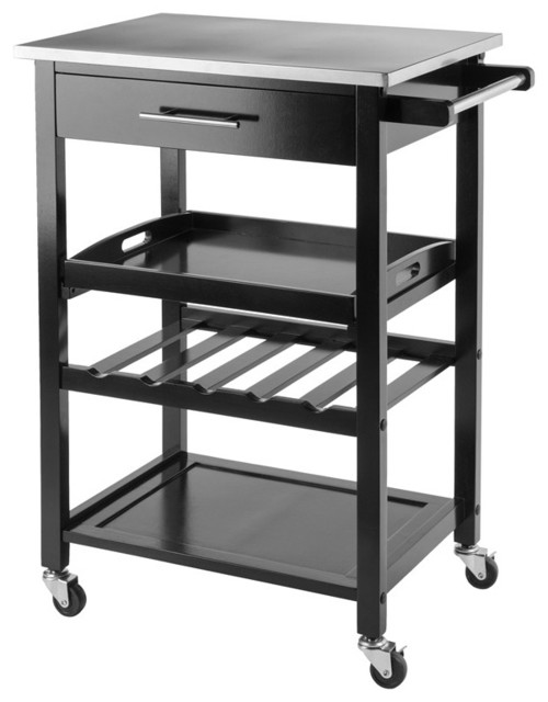 Anthony Kitchen Cart Stainless Steel Kitchen Islands And Kitchen Carts by