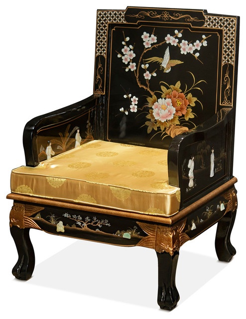 Chinese Imperial Style Sofa Chair With Hand Painted Art