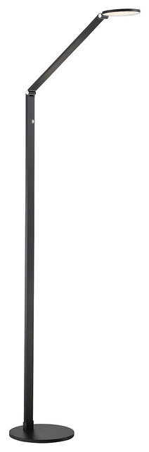 Fusion LED Floor Lamp with Dimmer, Black by Savoy House