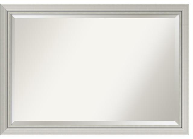 "Bathroom Mirror Extra Large, Romano Narrow Silver: Outer Size 40 X 28""."