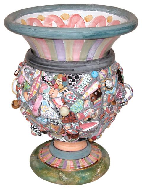 Ceramic Shard Urn Mackenzie Childs