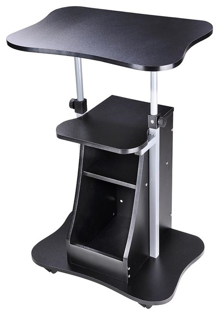 Exceptionnel Adjustable Height Rolling Mobile Stand Laptop Desk Cart With Storage Office