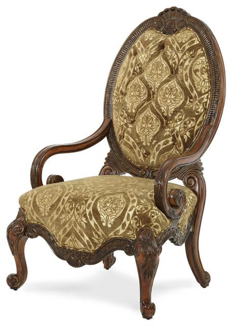 Chateau Beauvais Fabric Wood Chair Victorian Armchairs
