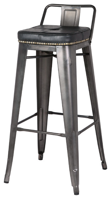 Astonishing Metropolis Low Back Bar Stools Set Of 4 Vintage Black Unemploymentrelief Wooden Chair Designs For Living Room Unemploymentrelieforg