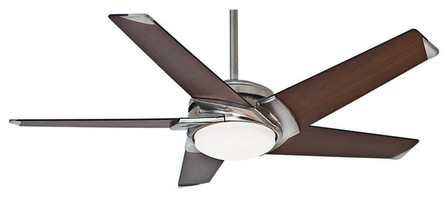 """Casablanca 54"""" Stealth Brushed Nickel Ceiling Fan With Light And Wall Control."""