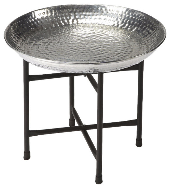 Miraculous Butler Casbah Metal Tray Table Home Remodeling Inspirations Cosmcuboardxyz