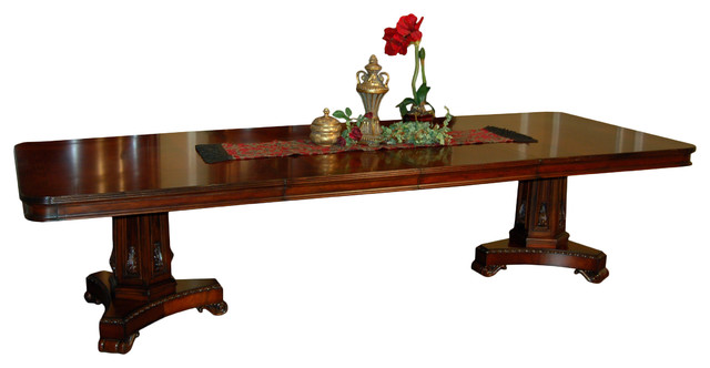 Heritage Mahogany Double Pedestal Dining Table