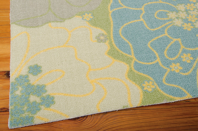 Home And Garden Rug, Green, 5&x27;3x7&x27;5.