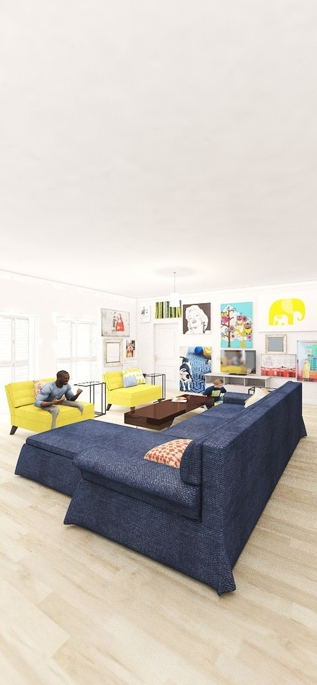 Design Projects Modern function in blue and yellows