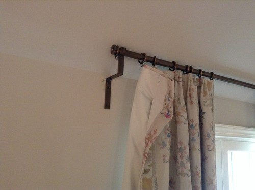 Need A Curtain Rod Bracket For Sloped Ceiling