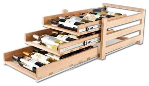 Wine Logic In-Cabinet Wine Storage, 3 Tier (18 Bottles).