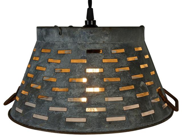 Galvanized Basket Pendant Light Industrial Pendant Lighting