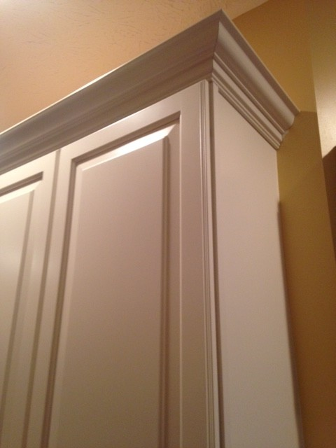 Trying To Install Crown Molding In The Corner Cabinets The Height Of The  Corner Cabinet Is