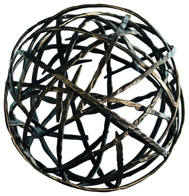 Global views strap sphere large decorative objects and