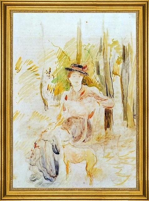 Berthe Morisot 16 Quot X24 Quot Framed Canvas Amp Reviews Houzz