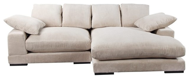 Chaise Lounge Corduroy Upholstery