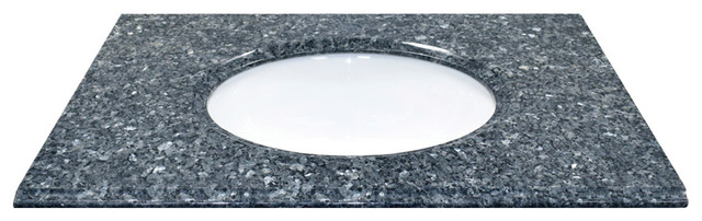 "31"" X 22"" Natural Granite Vanity Top, Blue Pearl."