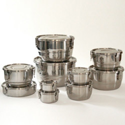 Stainless Steel Locking Air-Tight Containers - Contemporary - Food Storage Containers - by Green ...