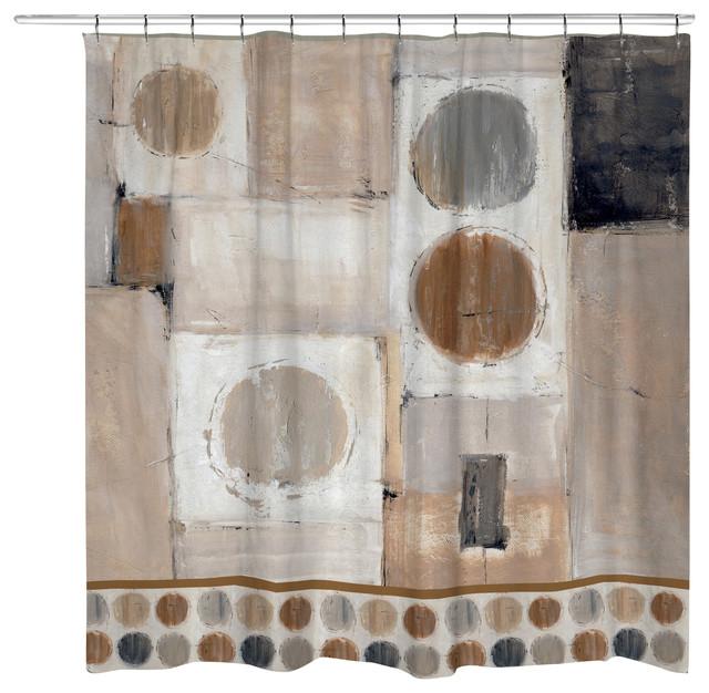 Abstract Balance Shower Curtain