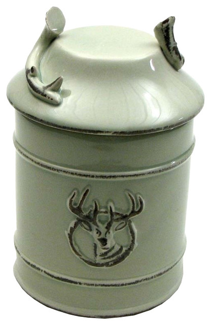 Modern Kitchen Jars ceramic deer goodie jar with seal - modern - kitchen canisters and