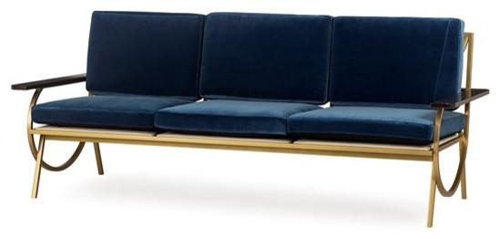 Sagan Sofa Vana Blue Velvet.