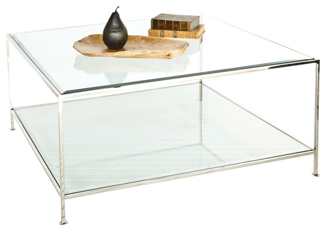 Worlds Away Quadro Nickel Coffee Table Contemporary Coffee Tables By Matthew Izzo