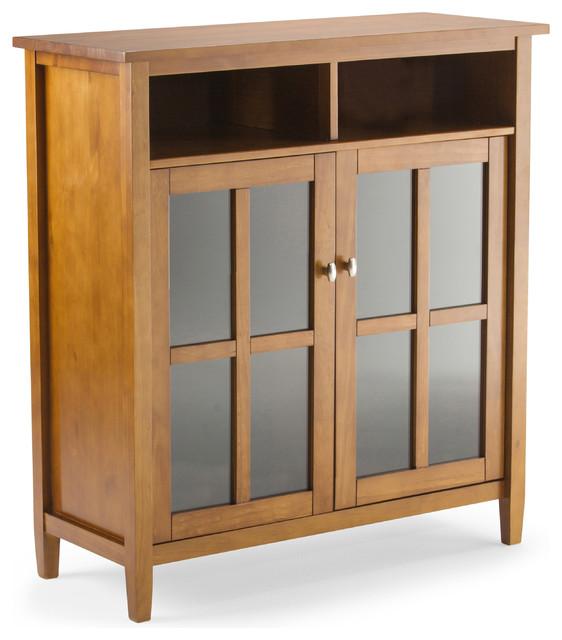 Warm Shaker Medium Storage Media Cabinet - Transitional - Media ...