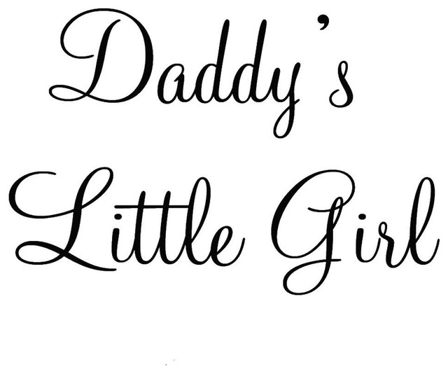 VWAQ Daddy\'s Little Girl Nursery Wall Decals Cute Baby Quote Vinyl Nursery  Vinyl