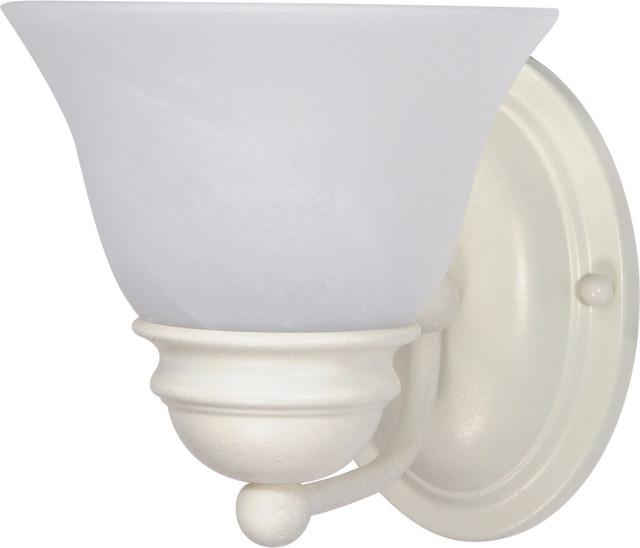 "Empire 1 Light - 7"" Vanity Alabaster Glass Bell Shades"