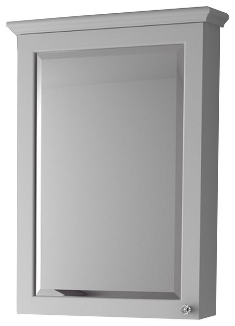 "Charm Solid Wood 24"" Medicine Cabinet, White."
